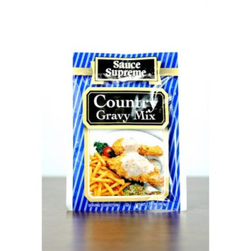 Pack of 24 Sauce Supreme Country Gravy Seasoning Mix 1.25 oz. #30006