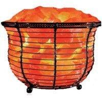 WBM LLC Himalayan Salt Basket Lamp, 9-11 Lbs