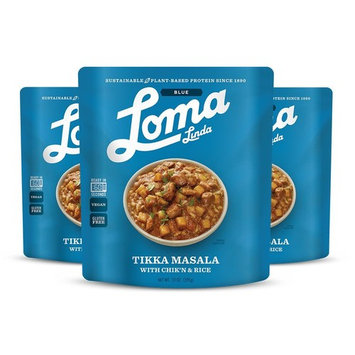 Loma Linda Blue - Plant-Based Complete Meal Solution - Heat & Eat Tikka Masala (10 oz.) (Pack of 3) - Non-GMO, Gluten Free