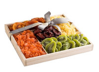 The Nuttery Ny The Nuttery Premium Dried Fruit Classic Gift Basket-Dried Fruit Mix Gift Box-Healthy Snacking Gift Set-Wooden Tray Sectional Tray for Gift