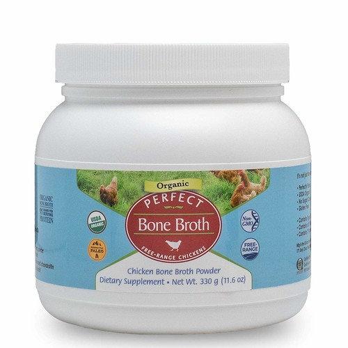 Perfect Bone Broth - Organic Free Range Chicken Bone Broth - 330 Gram Powder