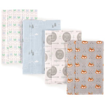 Babyvision Luvable Friends Basics Flannel Burp Cloth, 4 Pack