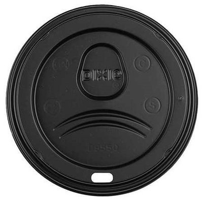 DIXIE D9550B Hot Paper Cup Dome Lid, Black, PK1000