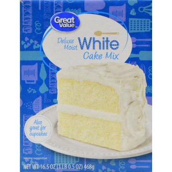 Great Value Cake Mix White 16.5oz Box