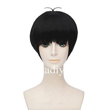 Kadiya Role Play Black Short Cosplay Costume Wig Lovely Ahoge For Boys Girls