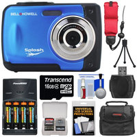 Bell & Howell Splash WP10 Shock & Waterproof Digital Camera (Blue) with 8GB Card/Reader + Case + Batteries/Charger + Tripod + Accessory Kit