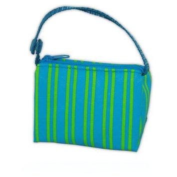 BooginHead Blue-Green Stripe PaciPouch Pacifier Bag Holder Paci Pouch