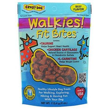 Cardinal Pet Care Crazy Dog Walkies! Fit Bites Beef Dog Treat, 4 Oz