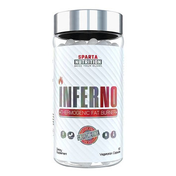 Sparta Nutrition INFERNO: Zero Stimulant Diet Pills for Women and Men, Midsection Fat Burner No Caffeine with Sensoril Ashwagandha to Reduce Cortisol, Support Thyroid Health, Boost Metabolism, 60 Caps