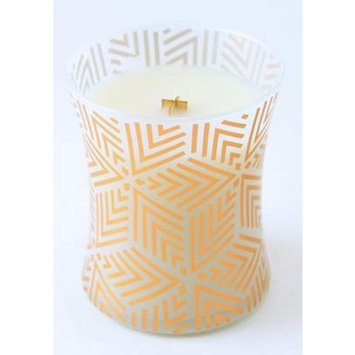 WHITE TEAK - Decal Hourglass 10 oz WoodWick Scented Jar Candle