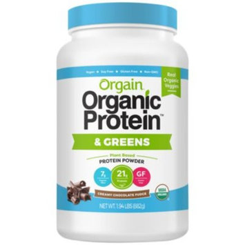 Orgain Organic Protein & Greens Creamy Chocolate - CREAMY CHOCOLATE FUDGE (1.94 Pound Powder) by Orgain at the Vitamin Shoppe