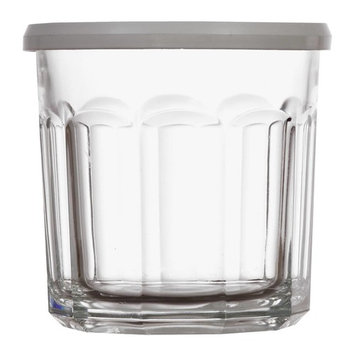 Clear Glass Storage Jars with White Lids, 14 oz. [count_per_pack: count_per_pack-24]