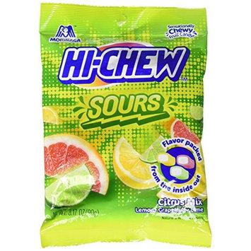 Morinaga Hi-Chew Sours Citrus Mix Lemon, Grapefuit, Lime 90 (Pack of 2)