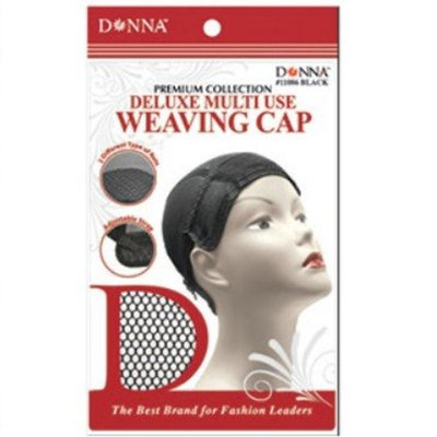 (PACK OF 6) DONNA PREMIUM DELUXE MULTI-USE WEAVING CAP #11086 BLACK : Beauty