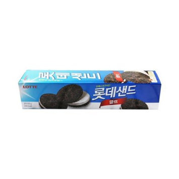 LOTTE SAND BLACK Chocolate Cookies with Cream Big Pack 100g
