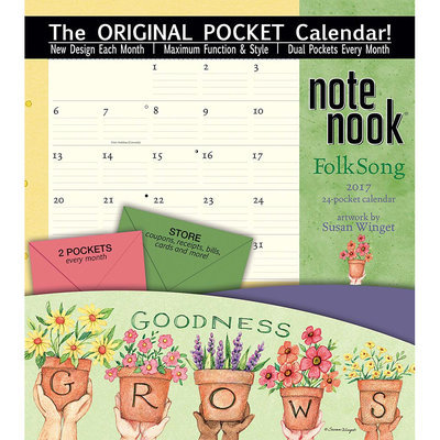 Folk Song 2017 Notebook Calendar