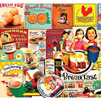 Breakfast 1,000 Piece Puzzle by White Mountain Puzzles