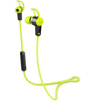 iLuv FitActive Jet Inner Ear Bluetooth Stereo Sport Headphones (Green) with Mic and Multimedia Function