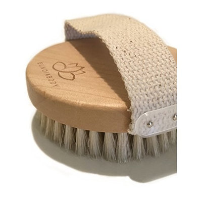 Round body brush, all natural - for dry brushing and exfoliation