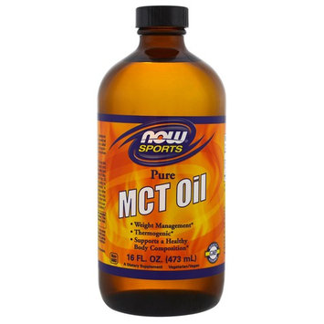 Now Foods, Sports, MCT Oil, Pure, 16 fl oz (473 ml) [Flavor : Pure]