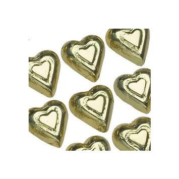 Madelaine Solid Premium Milk Chocolate Mini Hearts Wrapped In Italian Foil - 1 LB