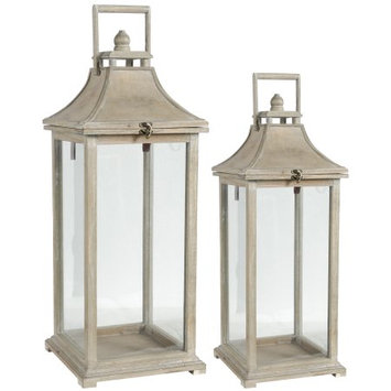 Ivona Garden Candle Lanterns - Set of 2 - A & b Home, Ivory