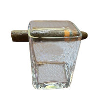 Beautifultracy Creative Whisky Glass with Cigar Holder (Transparent): Health & Personal Care