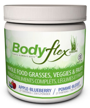 BodyFlex Super Greens Powder, Apple Blueberry, 8.81 Oz