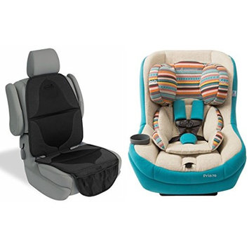 Maxi Cosi Pria 70 Convertible Car Seat with Elite Car Seat Mat, Bohemian Blue [Blue Base]