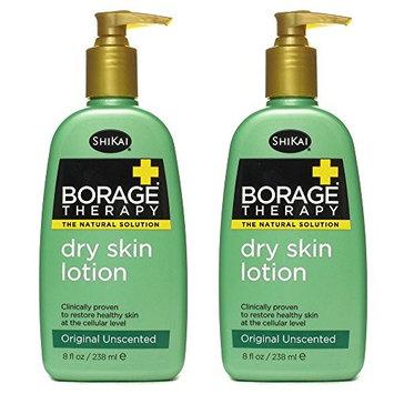 ShiKai All Natural Borage Dry Skin Therapy Body Lotion Cream For Severely Dry Skin With Organic Aloe Vera, Jojoba, Vitamin E, Shea Butter and Omega-6 Fatty Acids, 8 fl. oz. (Pack of 2)