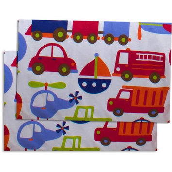Bacati Transportation mulicolor printed Crib Fitted Sheet, 2pk
