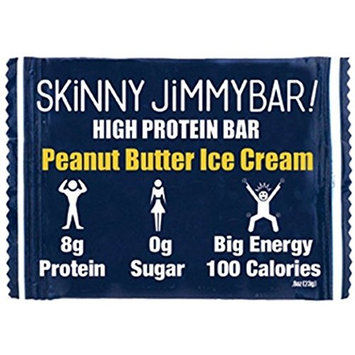 JIMMYBAR Skinny High Protein Bars (PB Ice Cream, 8 Pack)