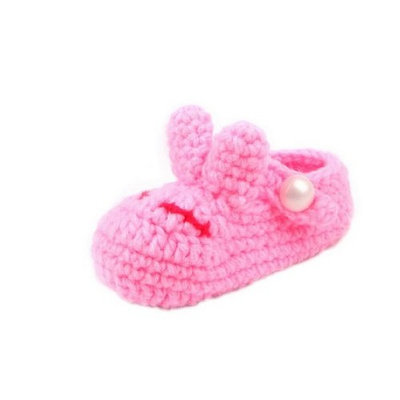 YL Baby Girl's Knit Cute Soft Walking Shoes for 0-6 Months