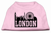Mirage Pet Products 5169 LGLPK London Skyline Screen Print Shirt Light Pink Lg 14