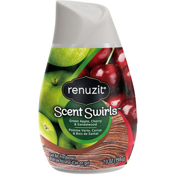 Renuzit ® Scent Swirlsu0026#8482; Green Apple, Cherry u0026 Sandalwood Gel Air Freshener 7.0 oz. Plastic Container
