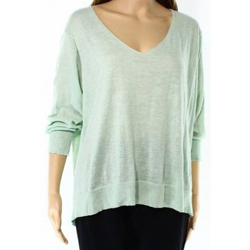 Cotton Emporium NEW Green Women Size Medium M Tulip Back V-Neck Knit Top [clothing_size_type: clothing_size_type-regular]