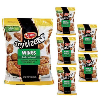 Tyson Any'tizers Tequila Lime Chicken Wings, 28 oz (Pack Of 6)