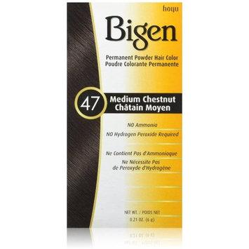 Bigen Permanent Powder Hair Color, 47 Medium Chestnut 1 ea