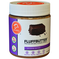 D's Naturals(tm) Fluffbutter(tm) Protein + Almond Butter - Brownie Butter