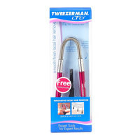Tweezerman Smooth Finish Facial Hair Remover Tool, Pink