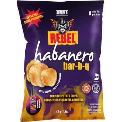 Spicy Habanero Bbq Flavored Aubrey D Rebel Potato Chips; Fiery Taste That Adds an Irresistible, Hot Crunch to Your Life