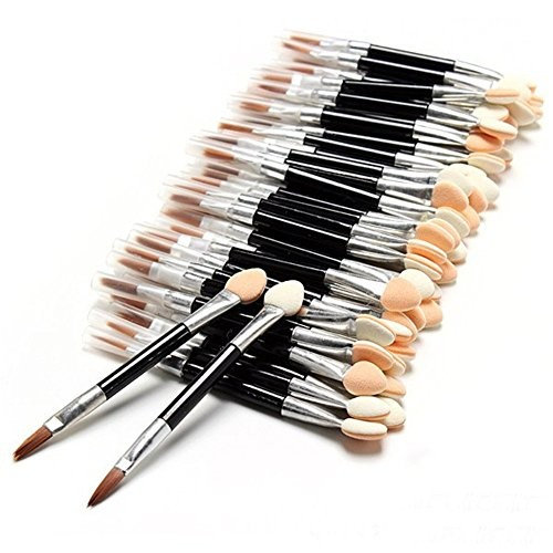 Alice Windowshop 100 PCS Eye Shadow Sponge Lipstick Brush 2 in 1 Design Applicators Kit