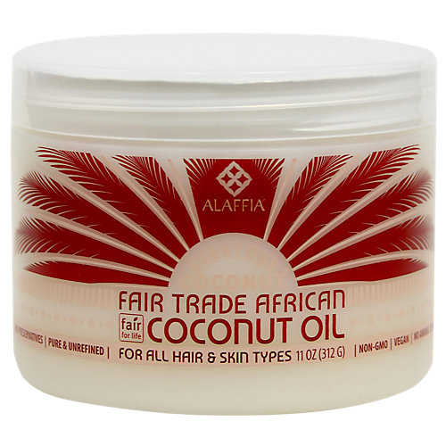 Alaffia EveryDay Coconut Fair Trade African Coconut Oil 11 oz - Vegan