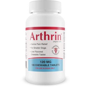 Arthrinreg; Buffered Canine Aspirin 120 mg For Smaller Dogs (100 Chewable Tablets)