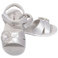 L'Amour Little Girls 11 Fuchsia Flower Sandals Shoes [clothing_size_type: clothing_size_type-regular]