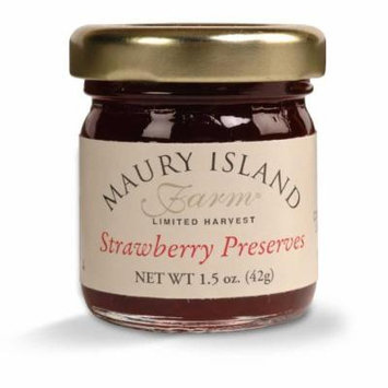 Gourmet Strawberry Preserves, 1.5 oz Mini Jar - All Natural - by Maury Island Farms (Case of 72)