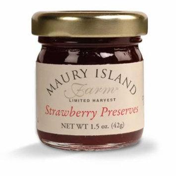 Gourmet Strawberry Preserves, 1.5 oz Mini Jar - All Natural - by Maury Island Farms (Case of 72)