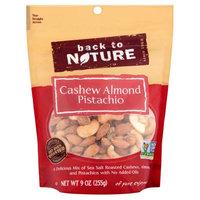 Back to Nature Cashew Almond Pistachio, 9 oz, 9 Count