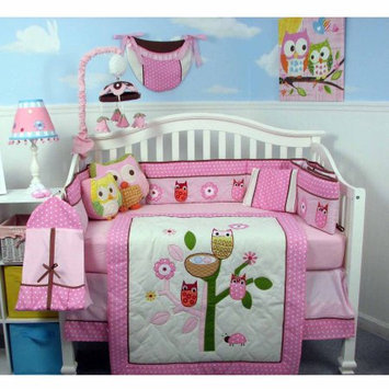 Soho Owl Tree Party Baby 14 Piece Crib Nursery Bedding Set