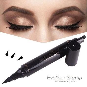 Winged Eyeliner Stamp 2 in 1 - Waterproof, Smudgeproof, Winged Long Lasting Liquid Eye Liner Pen - Fast Dry Eye Makeup Gel Seal Stamp Tool for Wing or Cat Eye Black Color